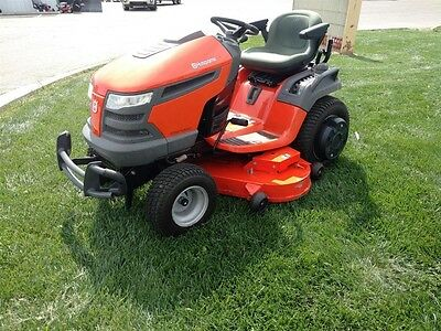 HUSQVARNA GTH27V52LS GARDEN Tractor Used with Snow Plow and Drag Box ...