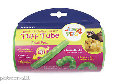 Ancol Just 4 Pets Tuff Tube Bend Stretch It Extends 18-75Cm Hamster Rat Ferret
