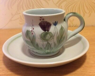 Buchan Pottery - Thistle - Coffee Cup and Saucer - Duo