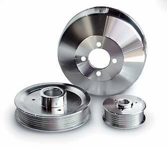 March Performance 502 Clear Powdercoat Aluminum 1V Power Steering Pulley