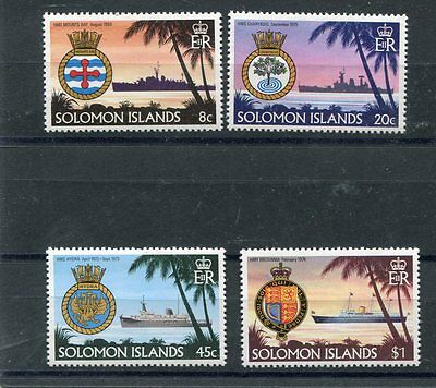 Solomon Islands 1981 419-22 Battelli 2°serie  MHN