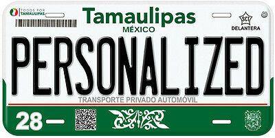 Tamaulipas Mexico Any Name Number Novelty Auto Car License Plate C08