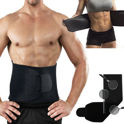 Adjustable Waist Trimmer Sweat sauna Belt Shaper Slimming Wrap Belly Tummy Cinch