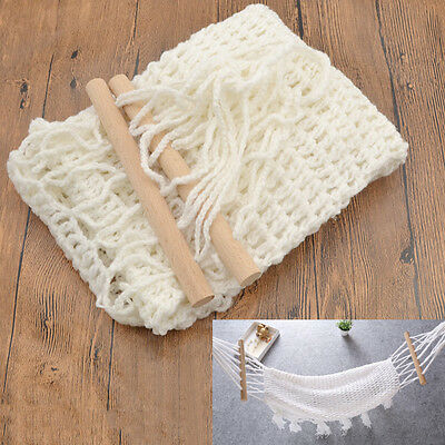 Baby Knitted Crochet Hammock Photography Prop Accessories Newborn Infant White