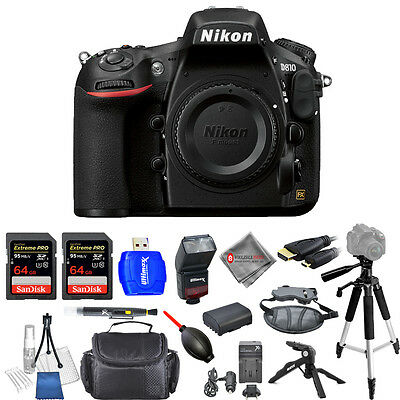 Nikon D810 36.3MP FX-Format DSLR Camera Body Only - Brand New DELUXE Bundle!