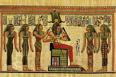 Egyptian Ancient Pharoah Papyrus Hieroglyph Print on Paper&Canvas Giclee Poster