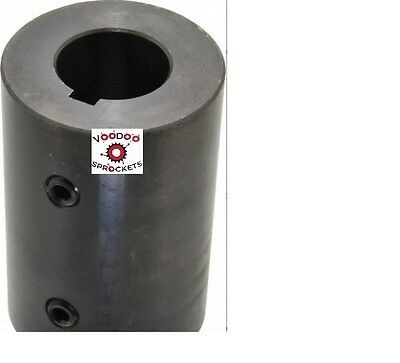 "G&G 1/2"" Keyed Round Bore Rigid Double Set Screw Shaft Coupler"
