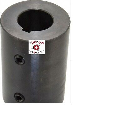 "G&G  1 3/8"" STD Keyed Round Bore Rigid Double Set Screw Shaft Coupler"