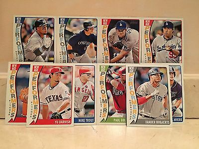 2014 Topps Heritage New Age Performers Insert Lot Of 10 incl. Trout Kershaw