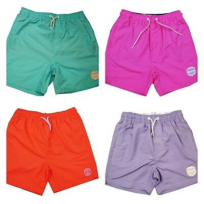 Boys Swimming Shorts Summer Color Plain Bottoms Sizes 10-16 Y