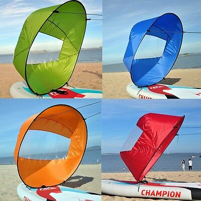 "42"" Kayak Sails Scout Wind Paddle Rowing Boats Downwind Foldable Canoe Sailing"