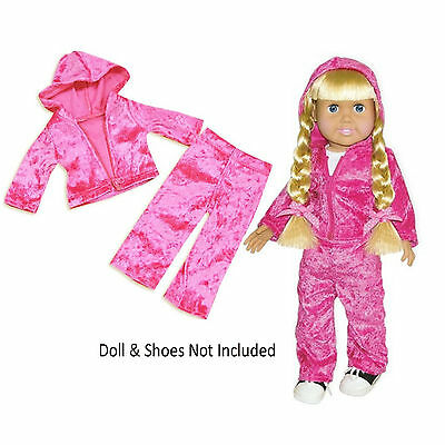 Sf Springfield Pink Velour Sweatsuit For 18 American Girl Dolls