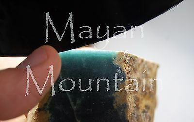 328g TRANSLUCENT DARK OLMEC BLUE JADEITE JADE FROM GUATEMALA ROUGH  DISCOUNTED!