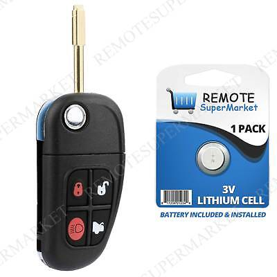 Replacement for Jaguar 01-08 S-Type 02-08 X-Type 01-08 XJ8 Remote Key Entry Fob