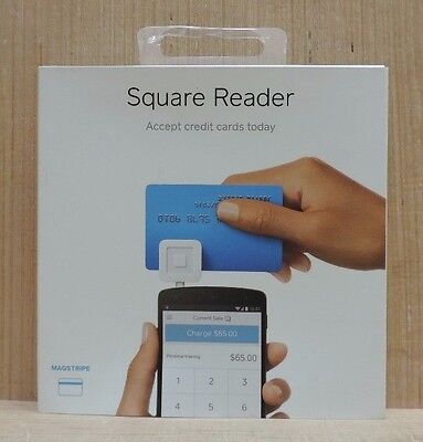 Square Magnetic Stripe Tablet Phone Credit Card Reader Mobile Payments