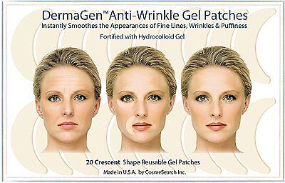 Dermagen Anti-Wrinkle Patches Frown Smile Lines Creases Forehead (Crescent)