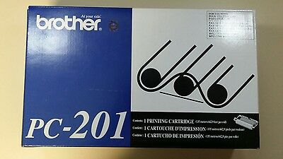 1 New Sealed Original Genuine Brother Pc201 Pc-201 Fax Mfc Printing Cartridge
