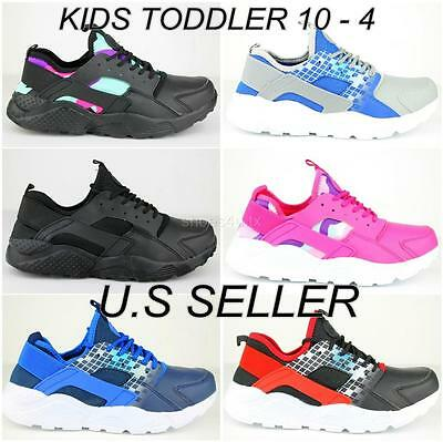 Kids Athletic Sneakers Boy Girl Sport Shoes Running Walking Tennis Lace Up 10-4