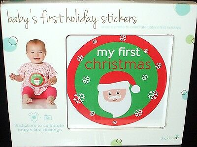 BABY'S FIRST HOLIDAY STICKERS ~ Set of 14 stickers to celebrate Baby Pictures