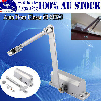 Useful 2PCS Adjustable Automatic Open Close Fire Rated Door Closer Suits 60-80KG