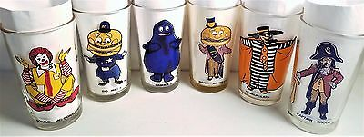 McDonald's Collector Series - Vintage 1975-76 - 12 oz. Complete Set of 6 Glasses