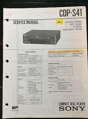 Sony CDP-S41 CD Player Service Manual