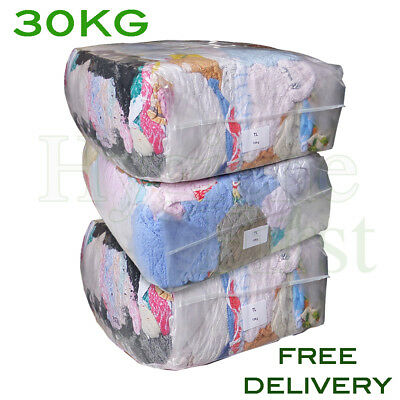 30Kg Bag Of Rags Towelling material coloured towel - excellent value for money