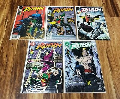 Robin 1 Batman's sidekick 1991 DC Comic: Brian Bolland Cover SERIES 1 - 5 BAGGED