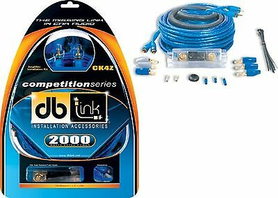 DB Link CK4Z 4 Gauge Competition Series Amplifier Installation Kit-Blue