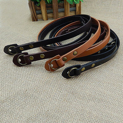 Black / Coffee Leather Camera Neck Shoulder Strap for Leica SLR DSLR Mirrorless
