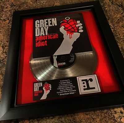 Green Day American Idiot Platinum Record Album Disc Music Award MTV Grammy RIAA