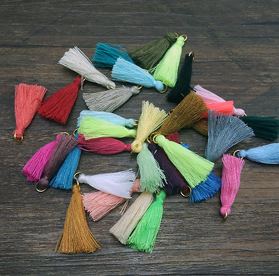 Mixed Silky Tassels Pendant Sewing Craft wedding DIY decoration Accessories 3cm