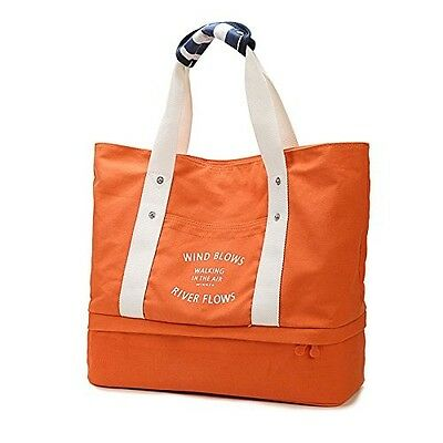 Sports Gym Duffel Bag Travel Tote Bag with Shoes Compartment, Canvas Shoulder Ha