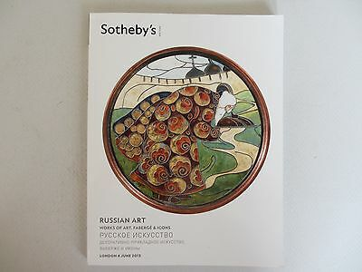 Russian Art. Works of Art, Faberge & Icons. Sotheby's London, 4 June. 2013
