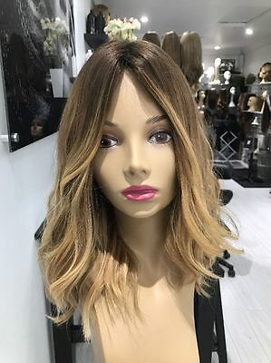 6A Brazilian Real Human Hair Wigs Wavy Ombre Blonde Lace Front Full Lace Wigs