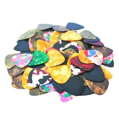 100x Acoustic Electric Guitar  Mix Thickness Picks For Celluloid Picks Plectrums