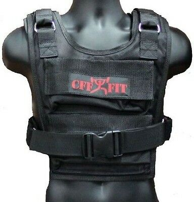 CFF Weighted Short Vest (Shell Only - Up to 16kg Capacity)- Great for Cross Trai