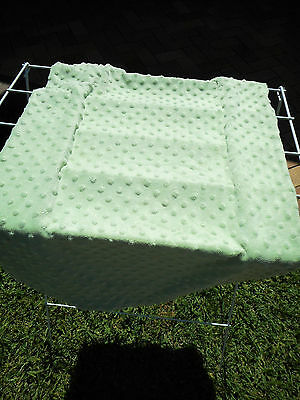 Green minky dot change table changing pad cover fitted soft baby boy girl unisex