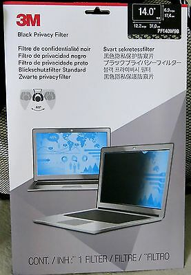 """Genuine 3M PF140W9B Black Privacy Filter for Widescreen Laptop 14.0"""" 14 inch"""