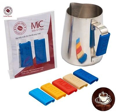 Milk Identification clips 2 pk for Milk Jugs -Crema Pro espresso coffee machines