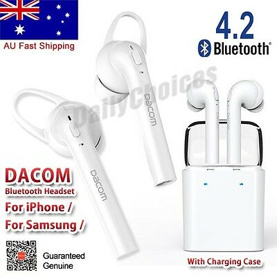 Dacom Wireless Bluetooth EARPODS Dual Inear Sport Earbuds Stereo For iPhone 6 7