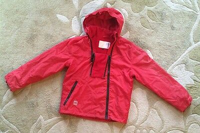 Youth 66 Deg North Iceland Hooded Red Fleece Lined Water Resist Jacket Size 12