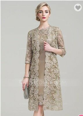 **free Shipping Today**mother of the bride dress size 14, Champagne Colored, Nwt