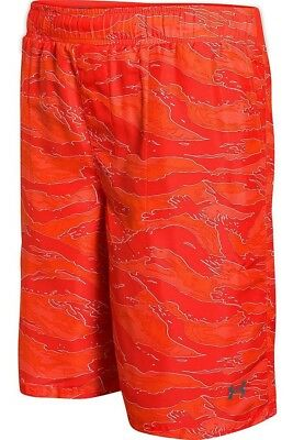 Under Armour Boy's Coastal Quick Dry Shorts YSM ORANGE. Shipping Included