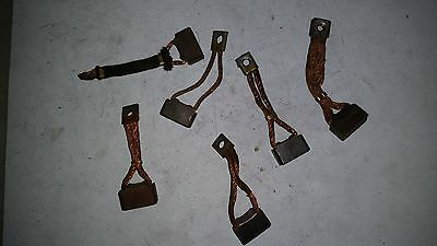 """FORD STARTER PARTS - BRUSHES - BRUSH, GROUND, 12V - FD 4-1/2"""" 6 pieces"""