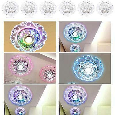 Big Sale Living Room Hall Vestibule Ceiling LED Sconce Lamp Crystal Flower Decor