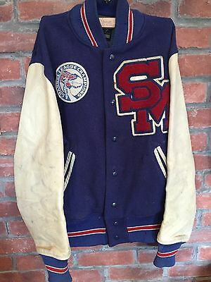 Vintage Blue/ Cream Varsity Jacket