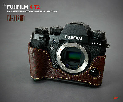 Lim's Design Lims Genuine Italy Leather Case for Fuji XT2 X-T2 Brown