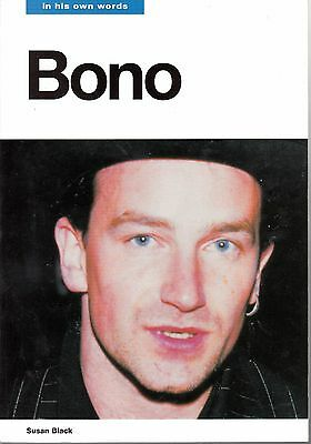 U2 Bono- In His Own Words Book Signed By Bono with photos of him signing book