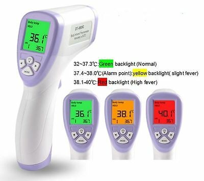 Portable Digital Non-contact Body Skin Infrared IR Thermometer For Baby Kids Hot